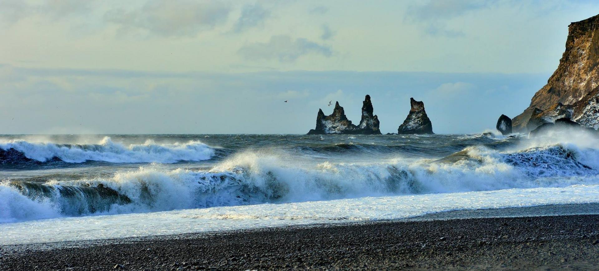 czarna plaża islandia vik